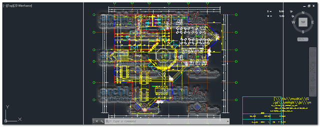 Public library bookstore Dwg Cad Archi-new - Free Dwg file