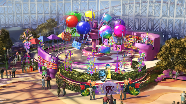Inside Out ride at Disneyland concept art