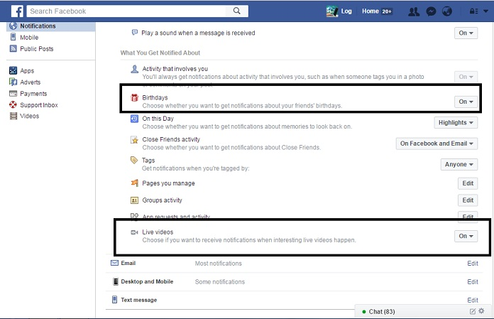 how to make birthday notification on facebook