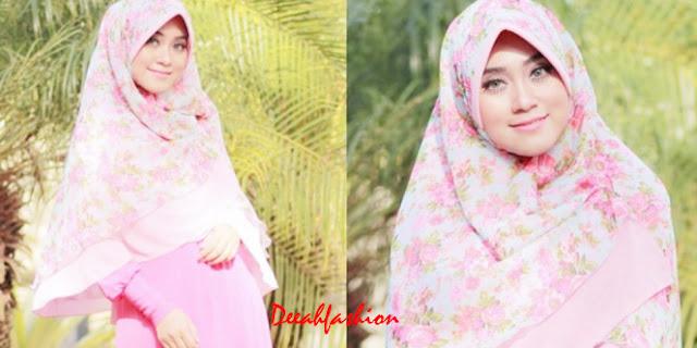 jilbab bunga musim semi
