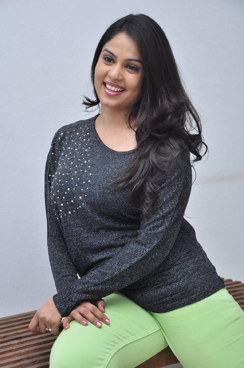 Anchor Chitralekha Hot Cute Stills In Black Dress