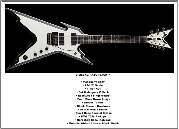 Guitars blog: Dean 7 String Sonic Perfection guitars