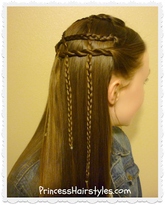 Cute braided lattice pull-through hair tutorial