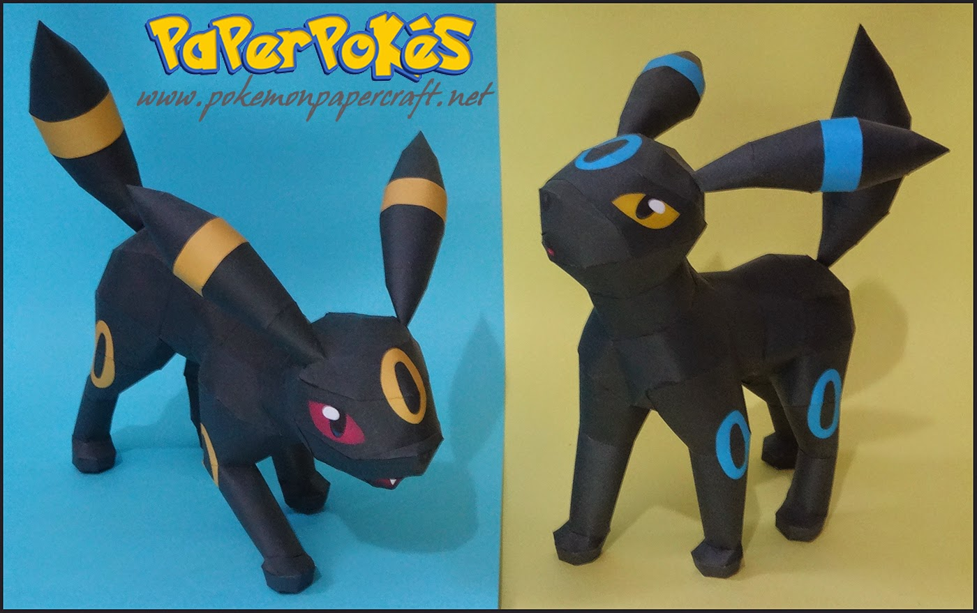Umbreon Howl Attack Papercraft