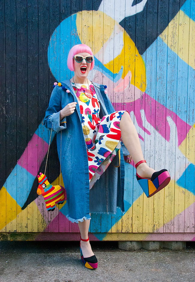 quirky blogger, gorman x liz payne, platform shoes