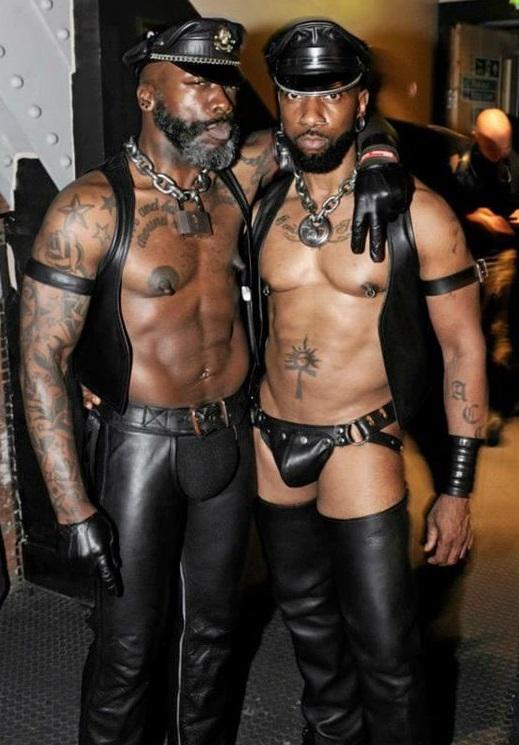 Gay Black Leather Porn
