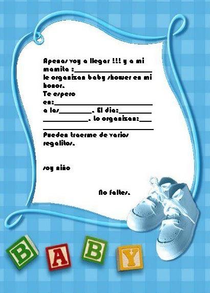 Invitaciónes Para Baby Shower Para Imprimir Y Editar Gratis