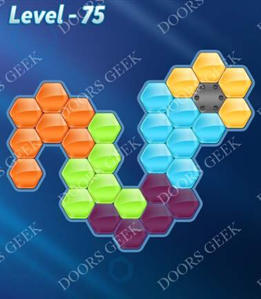 Block! Hexa Puzzle [Rainbow A] Level 75 Solution, Cheats, Walkthrough for android, iphone, ipad, ipod