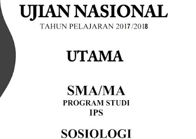 Soal dan Pembahasan UNBK Sosiologi 2018 No 16-20