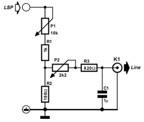crossover circuit diagram for subwoofer