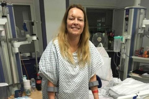 Photos: Westminster terror survivor who lost her husband pictured in hospital for the first time