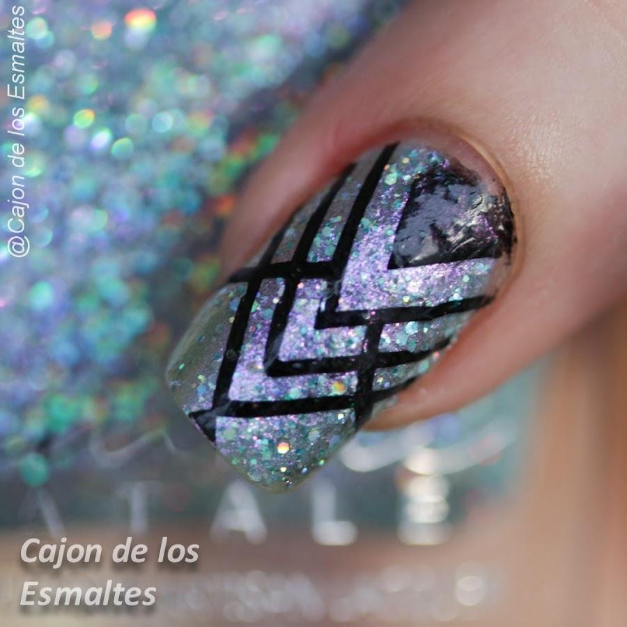 Diseños de uñas geométricos - Art Deco