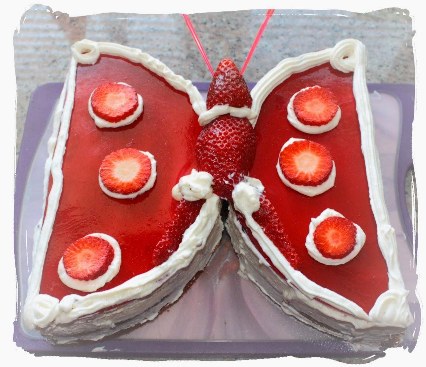 Die Lastige Nachbarin Rezept Schmetterlingskuchen Zum Geburtstag