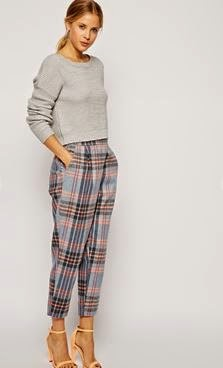 ASOS Peg Pant in Check