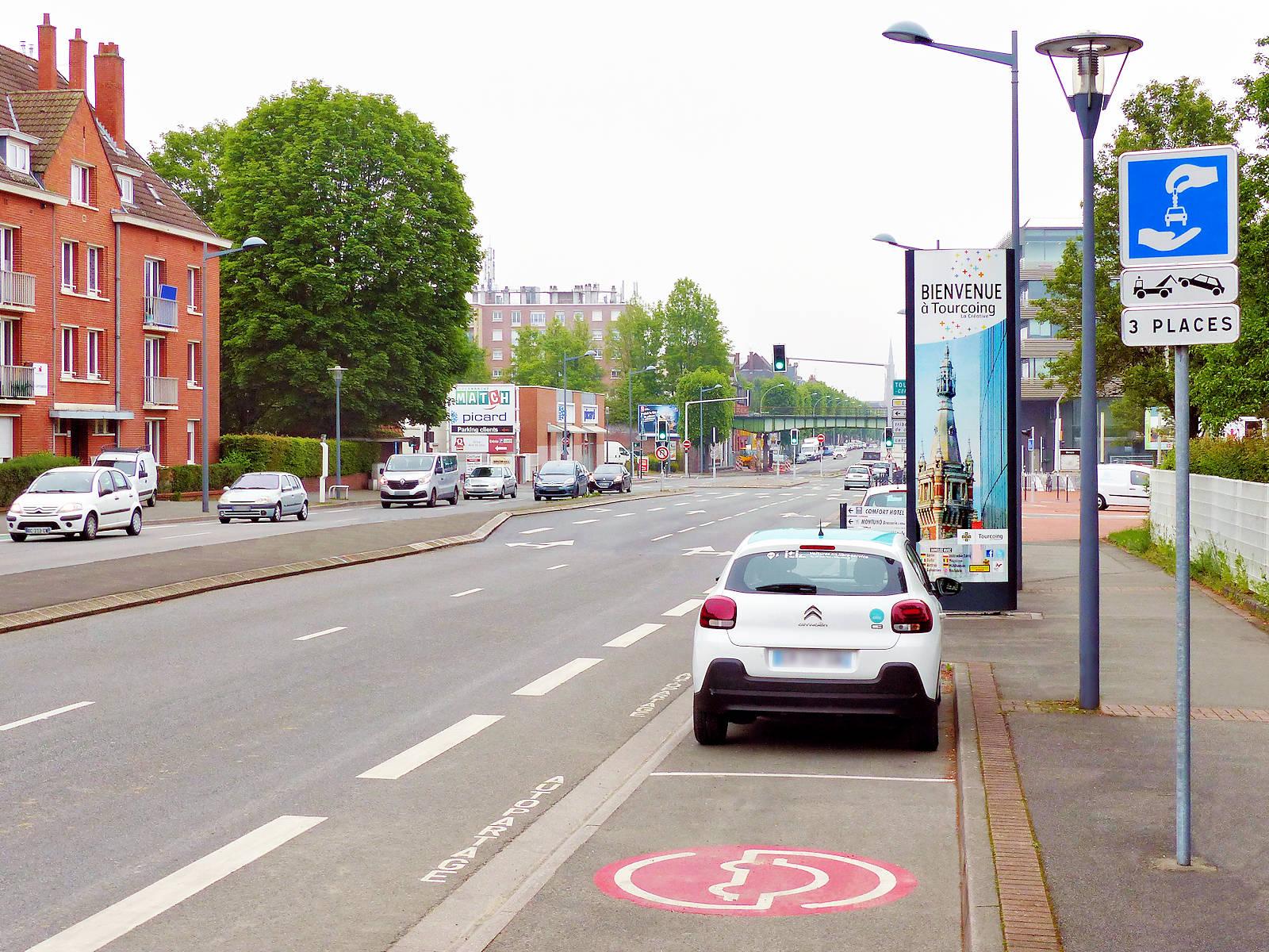 Autopartage Citiz Tourcoing - Station Union Mercure