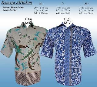 Jual kemeja batik pria lengan pendek desain keren motif ekslusif