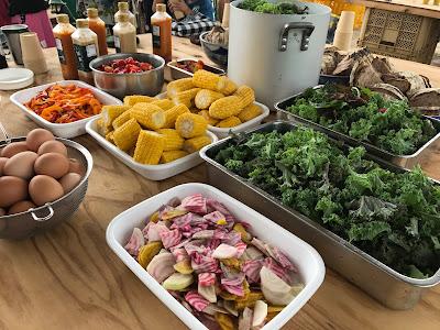 ホップ収穫体験してみた ~その④ オーガニック野菜食べ放題~