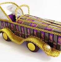 Автомобиль-кабриолет из конфет - мастер-класс