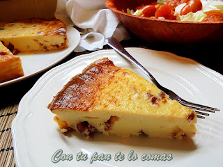 Pastel de quesitos y jamón serrano