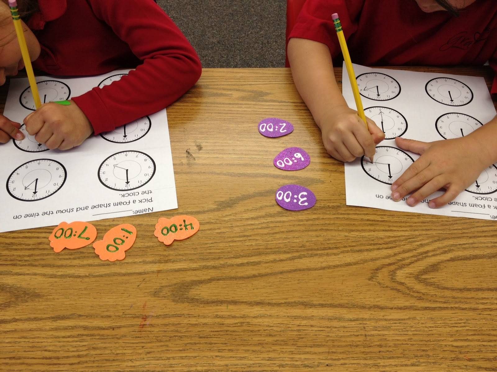 Telling Time In Kindergarten
