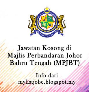 Jawatan Kosong Terkini di  Majlis Perbandaran Johor Bahru Tengah (MPJBT)Jawatan Kosong Terkini di  Majlis Perbandaran Johor Bahru Tengah (MPJBT)
