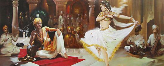 Indian Art Painting: Women Dancing