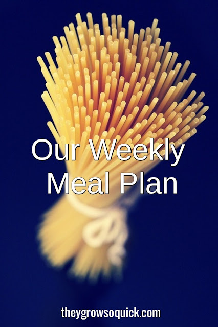 Our weekly meal plan 31/10