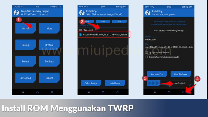 Install ROM Menggunakan TWRP