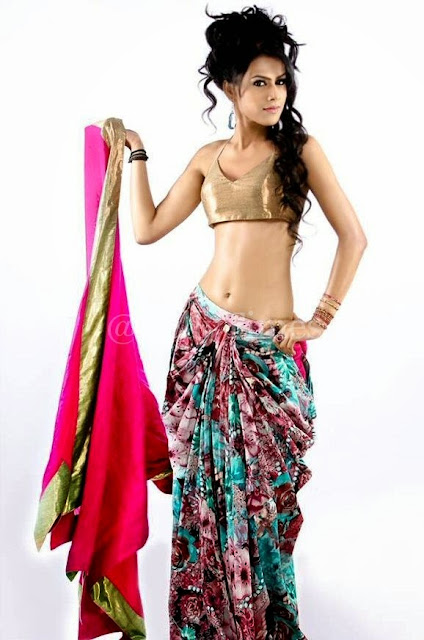 nia-sharma-slim-figure-in-sari