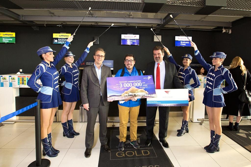 Zagreb Airport Welcomes Third Millionth Passenger