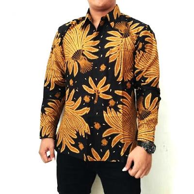 Contoh Model Baju Batik 2018 Kemeja Batik Kombinasi Pria Batik Pattern Motif Jokowi Padi