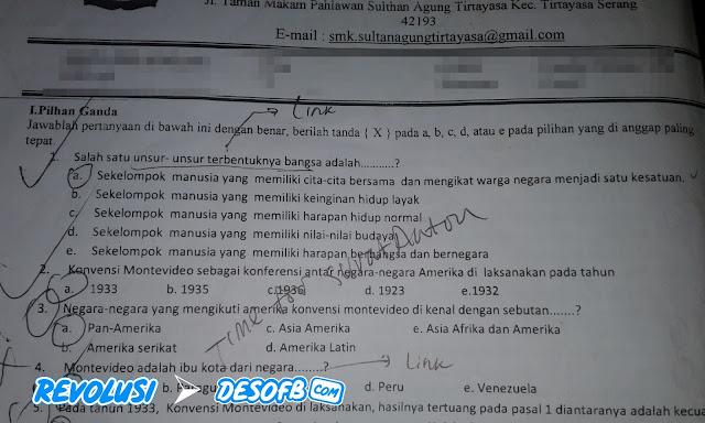 Soal UTS PKN Kelas X Beserta Jawabannya (PG)