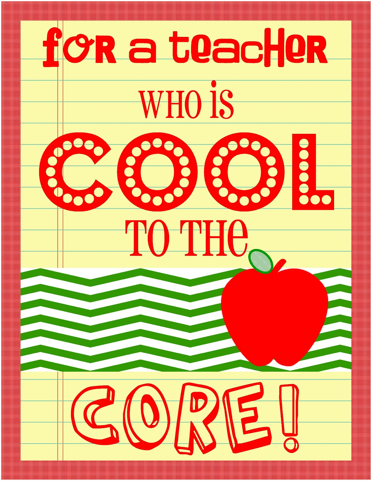Cool To The Core Teacher Appreciation Day 4