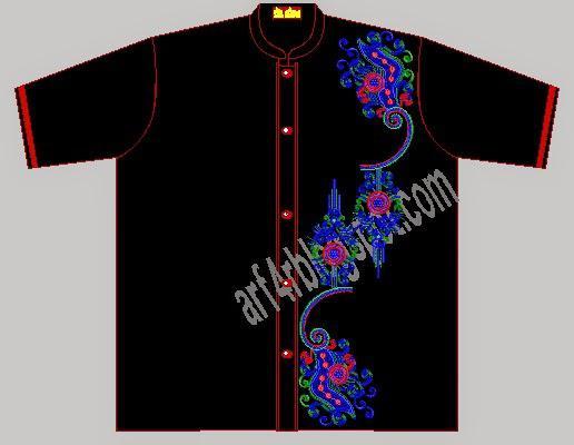 Contoh Motif Bordir Baju Koko ramadhan Terbaru Terpopuler 2016