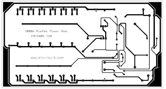 PCB layout design power amplifier mosfet irf540n