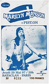 Marilyn Manson bataclan 1997
