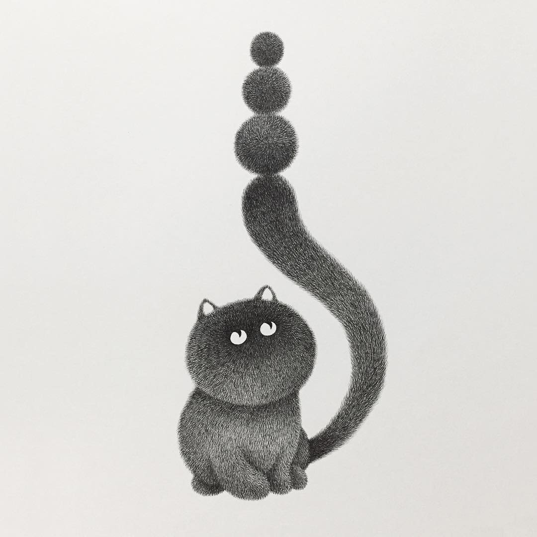 14-Stay-Cool-and-Stay-Focused-Kamwei-Fong-14-Furry-Cats-and-1-Furry-Monkey-Drawings-www-designstack-co