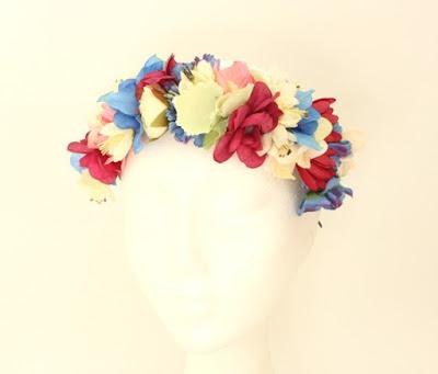 PV 2017 - Coleccion Azul marino Fucsia  5 corona flores