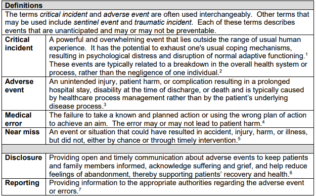 critical incident stress management guidelines