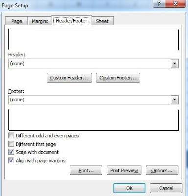 tinhoccoban.net - Hộp hội thoại Page Setup