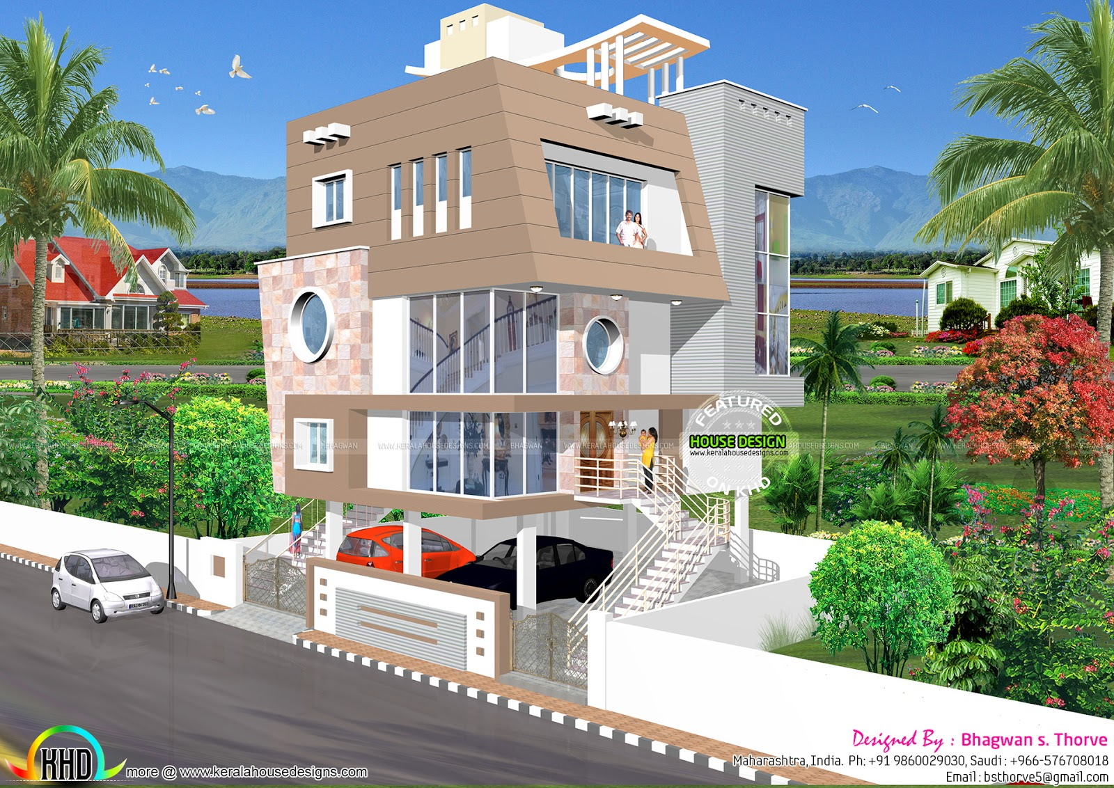 Stilt floor home design - Kerala home design and floor plans