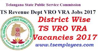 District Wise TS VRO VRA Vacancies 2017