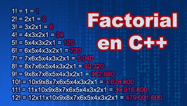 Factorial en C++