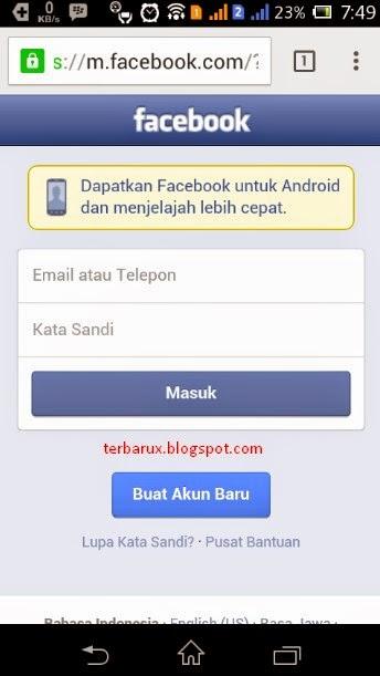 cara membuat facebook hp