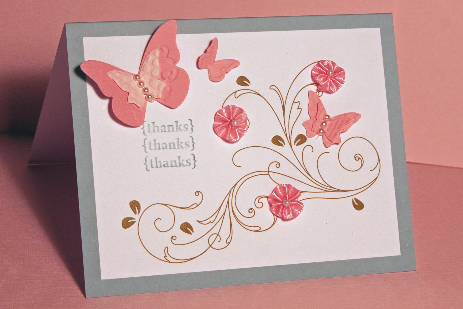 Stamped sophisticates free new catalog and say goodbye to while the kit includes printed embossed cards and pink adhesive backed ribbon flowers with pearl centers i added more embellishments using the butterflies kristyandbryce Images