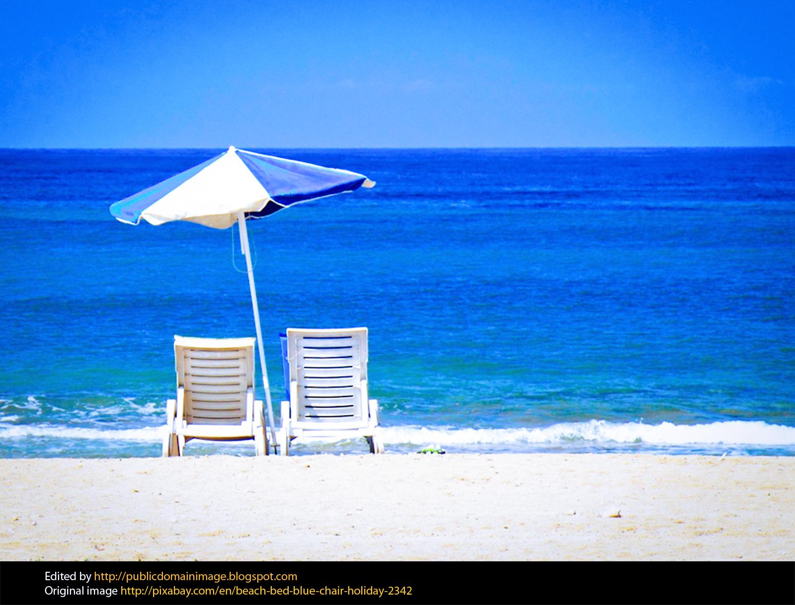 2 beach chairs on the beach - Beach Chair