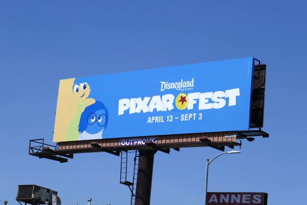 Inside Out Pixar Fest Disneyland billboard