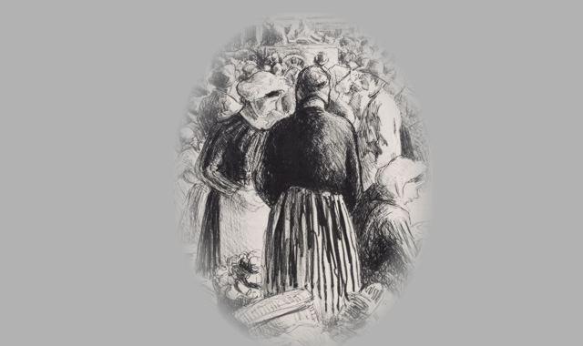 Frauen auf einen Markt