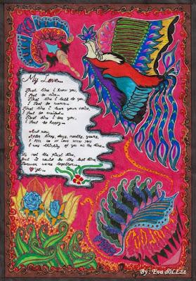 Love letter - Surat cinta. Colorful Draws - Gambar Penuh Warna