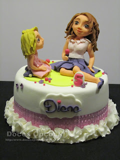 A Violetta no aniversário da Diana